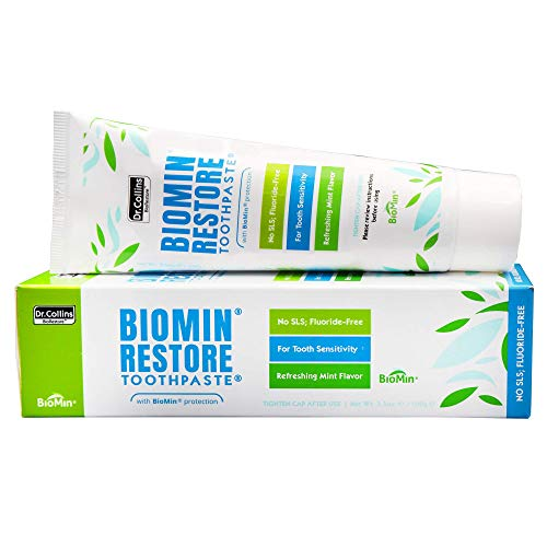 Fluoride Free Remineralizing Dr Collins Novamin Restore Toothpaste