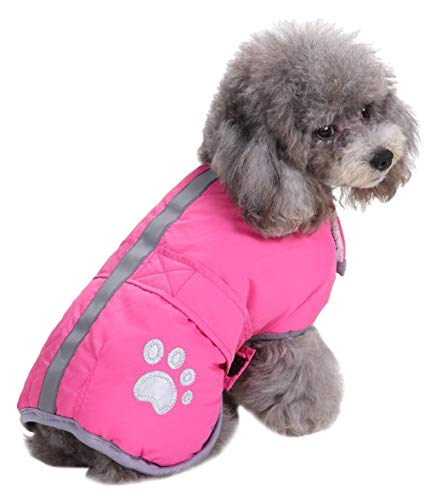 Queenmore Cold Weather Dog Coats Loft Reversible Winter Fleece Dog Vest Waterproof Pet Jacket...