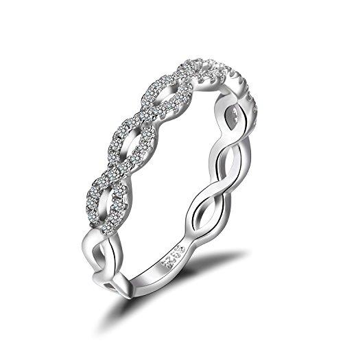 JewelryPalace Anillo femenino Infinito de...