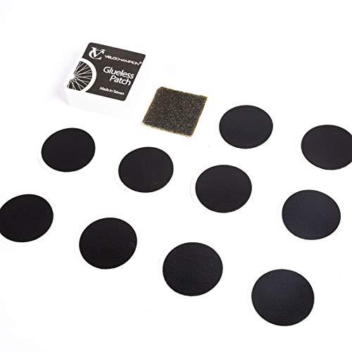 VeloChampion Leichte Fahrradpannenreparatur Leimlos Selbstklebende Patches Kit - Erhältlich in 6er oder 10er Packung (6 Pack)