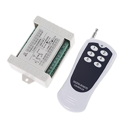 Controlador de control remoto Transmisor de interruptor de radio Receptor 433 MHz Transmisor y receptor para lámpara DC 12 V y 24 V 6 Ch Interruptor de radio Control remoto