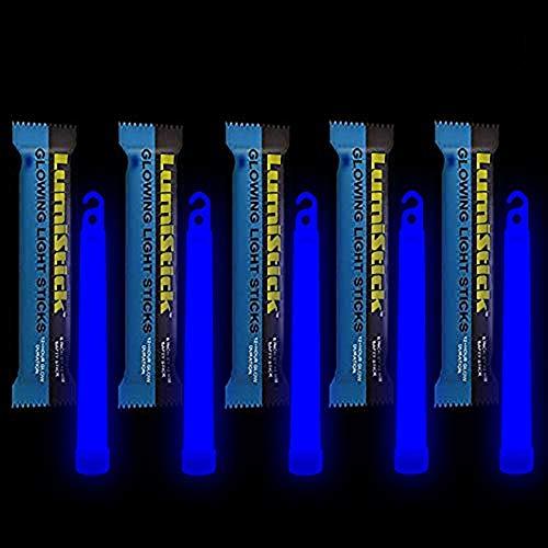 Lumistick 6 Inch Emergency Glow Sticks | 15mm Thick Flat Bottom Illuminating Light Sticks | Kids...