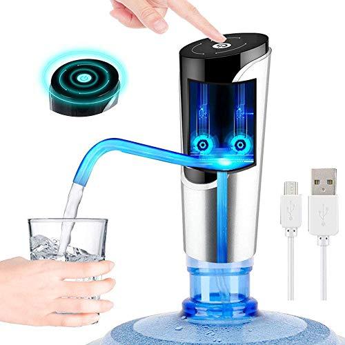 YFGQBCP USB De Carga Bomba De Agua De Bebida Inteligente For Universal 5 Galones Botella Portátil Inalámbrico For El Hogar Cocina Despacho Uso Al Aire Libre