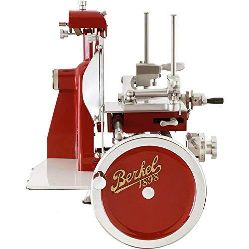 Berkel Volano B2 handbetriebene Aufschnittmaschine mit Volles Schwungrad und Messerdurchmesser 265 mm Rot