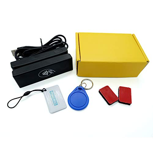 ZS100-RF 2-IN-1 Double Direction USB Magnetic Stripe Card Reader&13.56MHZ RFID NFC Card Reader Writer All 3 Tracks Credit Card Encoder with Free Software