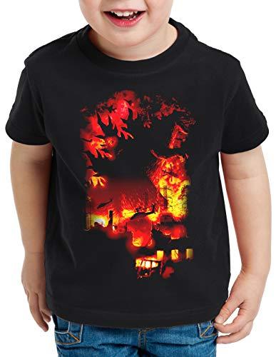style3 Kaiju Fire T-Shirt für Kinder Monster Nippon Gojira Tokio, Größe:140