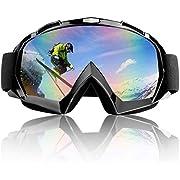 TolleTour Skibrille, Snowboard Brille für Damen und Herren Doppel-Objektiv OTG UV-Schutz Anti Fog Snowboardbrille Schutzbrille Helmkompatibel für Skifahren Motorrad Fahrrad Skaten