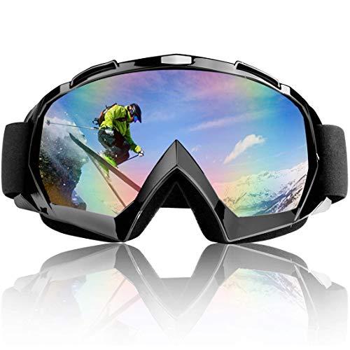 wolketon Skibrille Snowboard Schutzbrille Anti Fog UV für Outdoor Motorradbrillen Aktivitäten Skifahren Radfahren Snowboard Wandern Augenschutz