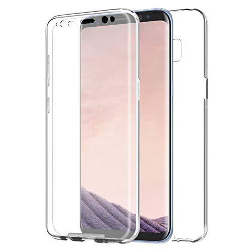 TBOC Funda para Samsung Galaxy S8 Plus - S8+ - Carcasa [Transparente] Completa [Silicona TPU] Doble Cara [360 Grados] Protección Integral Total Delantera Trasera Lateral Móvil Resistente Golpes