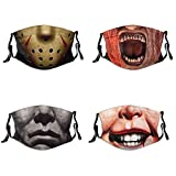 Horror Movie Adult Outdoor Face Mask with 8 Filters Adjustable Funny Cool Balaclava
