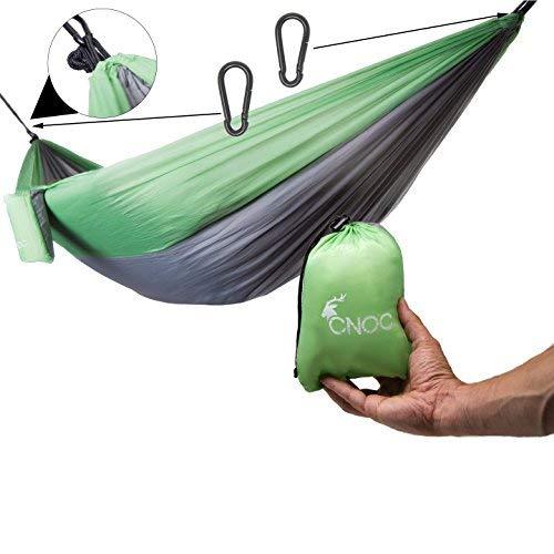 CNOC Confortable, Confortable et Super léger - Parachute Suspendu du avec Une capacité de Charge de Plus de 300 kg I Hamac de Camping en Plein air Tapis de Voyage hamac Accessoires de ca (Double)