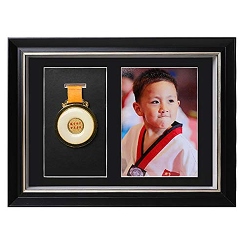 XXCC Picture Framing Direct Black And Silver Deep Box Frame To Display War/Military/Sports Medals