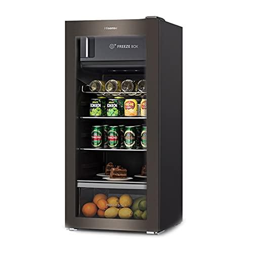 Temperatura Constante Refrigerador de Vino, Barra de Hielo de Cerveza de Bebidas, Hogar 130L Frigorífico de enfriamiento de Vino, Control de Temperatura Digital con luz