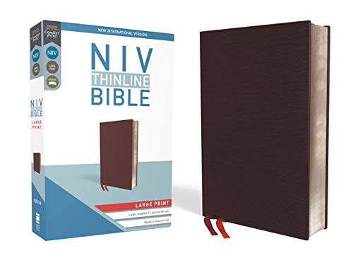 Compare Textbook Prices for NIV, Thinline Bible, Large Print, Bonded Leather, Burgundy, Red Letter, Comfort Print Special ed. Edition ISBN 9780310448341 by Zondervan