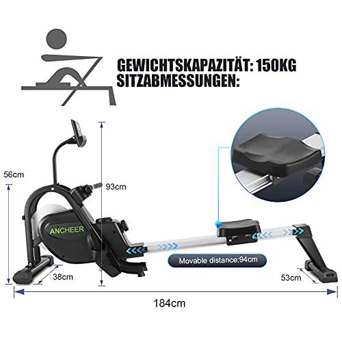 ANCHEER F103A Rudergerät Aufstellmaße