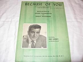BECAUSE OF YOU TONY BENNETT 1940 SHEET MUSIC SHEET MUSIC 364