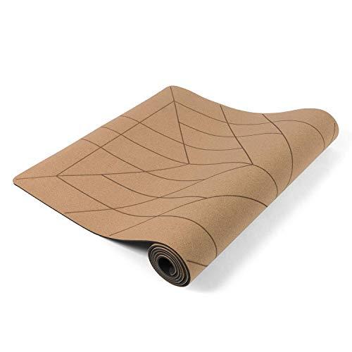 Lotuscrafts Esterilla Yoga Corcho Cork - Superficie Antideslizante a Prueba de Sudor - Materiales 100% Reciclables - Esterilla de Yoga Antideslizante de Corcho y TPE Ideal para Hot Yoga