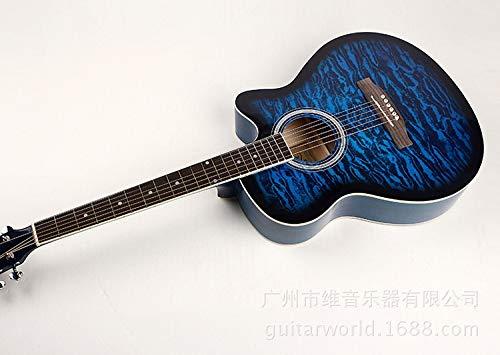 SUNXK 40 Pulgadas Guitarra acústica de Tilo Tigre Indio Guitarra ...