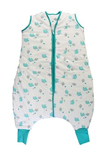 Schlummersack Schlafsack mit Füssen leicht gefüttert für den Sommer in 1.0 Tog - Elefanten Unisex - 100 cm