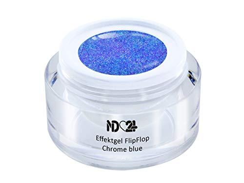 Uv Led Effekt-Gel Flip Flop Chrome Blue - Blau - Studio Qualität - Made In Germany - 5ml