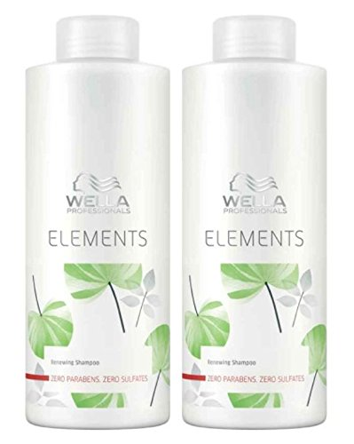 Wella Care Elements - Champú sin sulfatos (2 x 1000 ml)