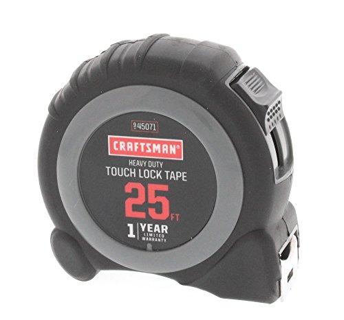 Craftsman Heavy Duty Touch Lock Tape Measure 1 Inch by 25 Feet
