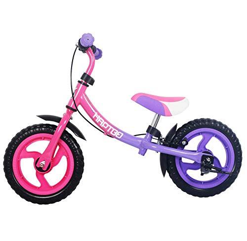 HAPTOO Laufrad ab 2 Jahre Mädchen, 12 Zoll Laufräder mit Bremse