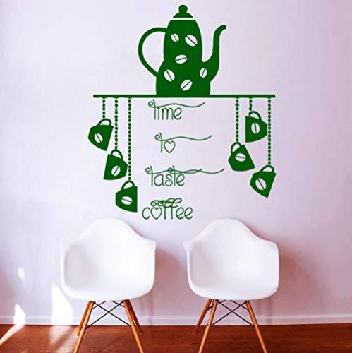 Etiqueta de la Tetera taza de café arte etiqueta de la pared cocina etiqueta de la pared impermeable decoración de la pared