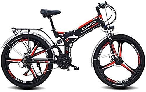 Bicicleta eléctrica de nieve, Las bicicletas de montaña 48V10AH eléctrico for adultos, plegables Ebikes MTB for Hombres Mujeres Damas, con gran capacidad extraíble de iones de litio Batería de litio P