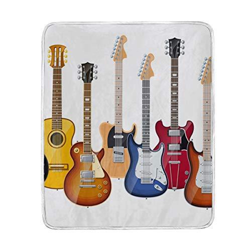 Ahomy - Manta Suave y cálida para Guitarras eléctricas, tamaño de Viaje,...