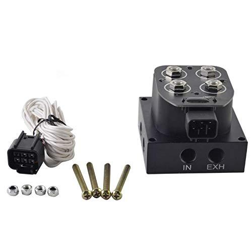 BXU-BG Auto/Motorcycle 12v Válvula de solenoide Soleno de aire Válvula de colector de suspensión (0-300PSI)