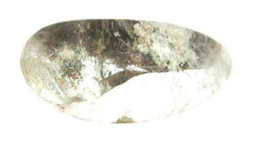Preisvergleich Produktbild Anschliff Bergkristall Flusskiesel halb poliert mit Muttergestein 4-6 cm