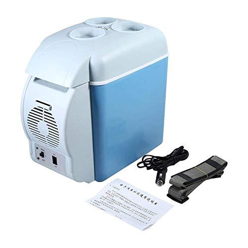 JF-XUAN Coche Frigorífico, DC 12V 37W 7.5L portátil Mini 3 Bebidas Colocación Asientos Comida refrigeración mercancías almacenadas Coche del congelador de refrigerador del refrigerador del Calentador