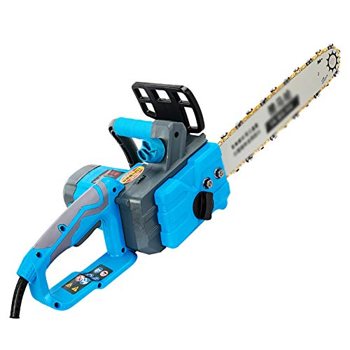 IRi 18-Inch Electric Chainsaw, Wood Cutter Machine with Automatic Chain, Chain Saw with Auto Oiler-Soft-Touch Grip and Hand Guard, Blue