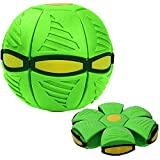 魔法のUFOボール、ベントボールのおもちゃ魔法のUFOボール、フラットスローディスクボールグッズ屋外ガーデンビーチゲーム 、空飛ぶ円盤のボール魔法の変形軽いUFOのおもちゃ子供用ギフト用のベント減圧 (Green)