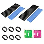 2 Pack M.2 Heatsink,Aluminum Heatsinks for PCIe NVMe Heatsink M.2 2280 SSD Heatsink with Silicone Thermal Pad