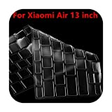 Keyboards Cubierta de teclado ruso/español de silicona para Xiaomi Mi Notebook Para Air 12.5 13.3 Pro 15.6 pegatina protectora de la película protectora transparente 13 pulgadas
