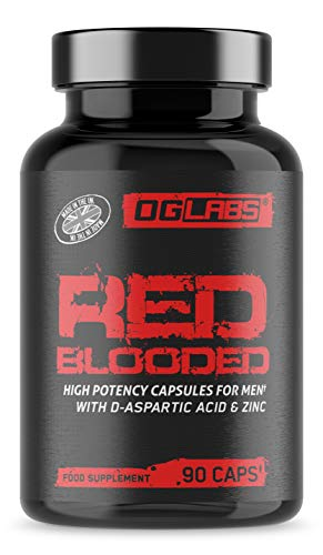 Red Blooded - High Potency Enhancer & Booster - BE A RED Blooded Man! - with Tribulus & Zinc - 90 Capsules