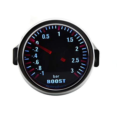 "Nologo Odometer Spur Selbstlehre 2"" 52MM Mechanische Turbo Boost Wagen Spur Meter Auto White LED Universal ZHQHYQHHX"