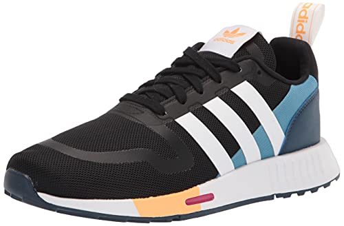 adidas Originals womens Smooth Runner Black/White/Hazy Blue 6.5