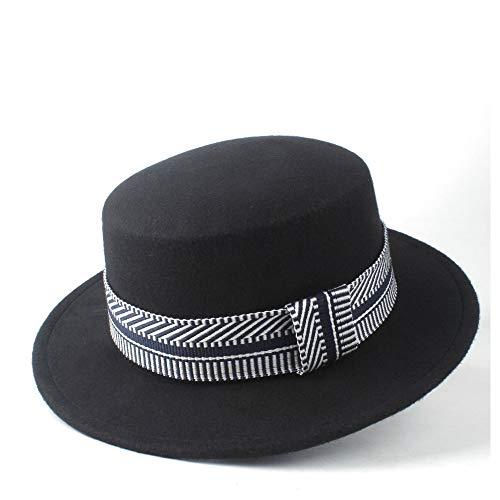 XUNERDA Hombres Mujeres Moda paspartú del Sombrero de Copa del Invierno por Completo de ala Partido Amigo Sombrero de Lana Fedora del Sombrero Flexible 56-58cm Tamaño