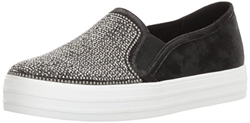 Skechers Damen Double Up-Shiny Dancer-801 Slip On Sneaker, Schwarz (Black), 38 EU
