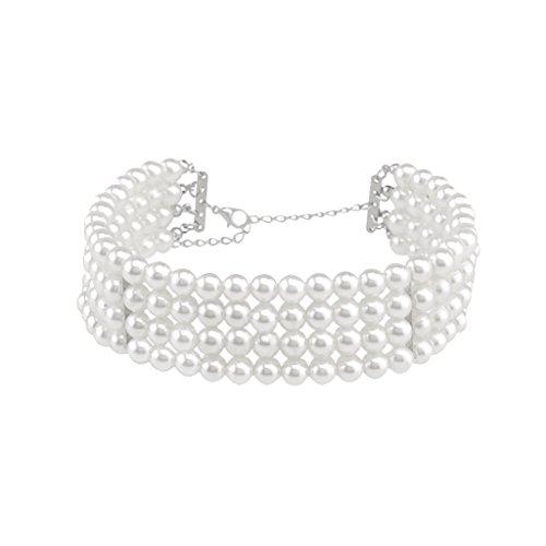 Gazechimp 1 Stk. Luxus Damen Perlen Choker Halsband Halskette - Mode Schmuck Geschenk