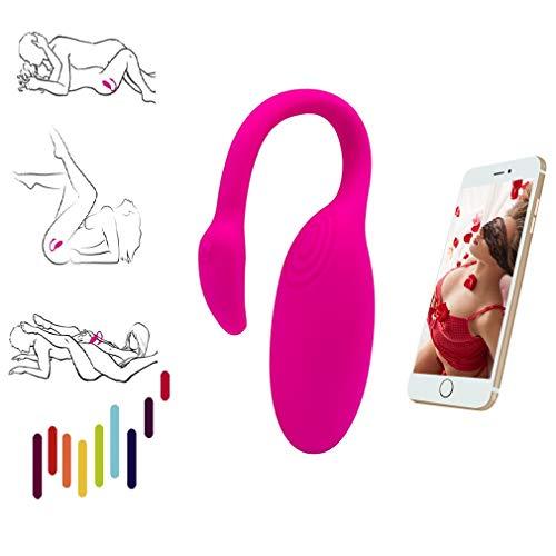 Womèn Sèx Wèarablè tòy Masajeador inteligente personal Juguetes de placer Vibraciones portátiles - Aplicación Control remoto Bluetooth Herramienta de masaje Aplicación