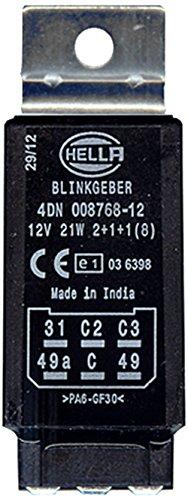 HELLA 4DN 008 768-121 Blinkgeber, 12V, elektronisch, mit Halter