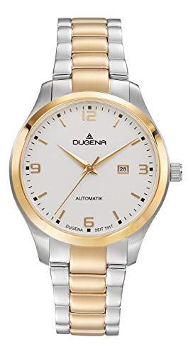 Dugena Damen Automatik Armbanduhr, Saphirglas, Edelstahlarmband, Tresor Woman Automatik, Silber/Gold, 4460914