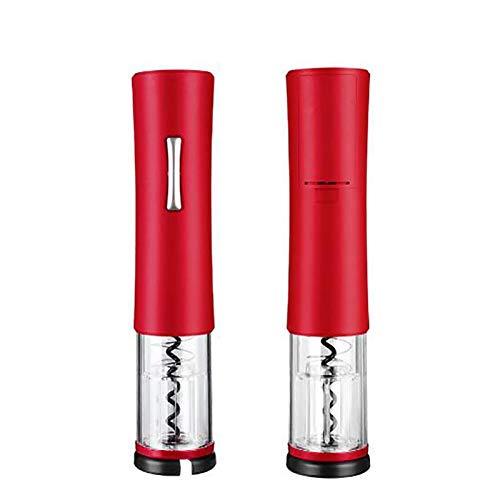 Sacacorchos Eléctrico celda seca Automatico Abrelatas de Vino con cortador de papel de aluminio para el hogar, la bodega, la fiesta, el bar y como regalo A