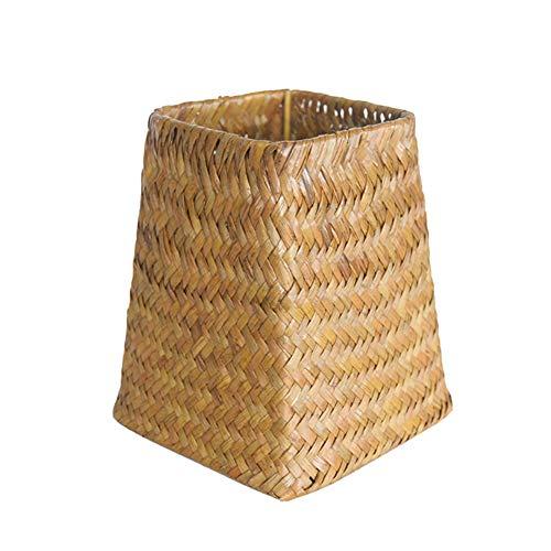 Gelentea Cesta de mimbre tejida a mano, organizador de flores y jarrón de almacenamiento de ratán, ideal para casas, habitaciones infantiles, baños, balcones.
