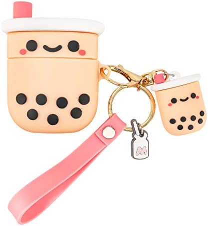 Newseego Compatible with Airpods 1 2 Case Cartoon Bubble Milk Tea Cup Design Cute 3D Funny Soft product image
