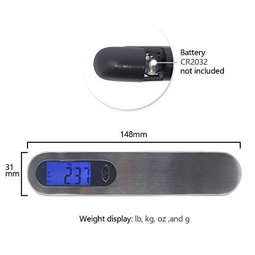 Relaxbx Digitale Taschenwaage, 50 kg/10 g, digitale Mini-LCD-Gepäckwaage, tragbar, elektronische Waage, Reisewaage